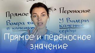 Прямое и переносное значение слов в русском языке