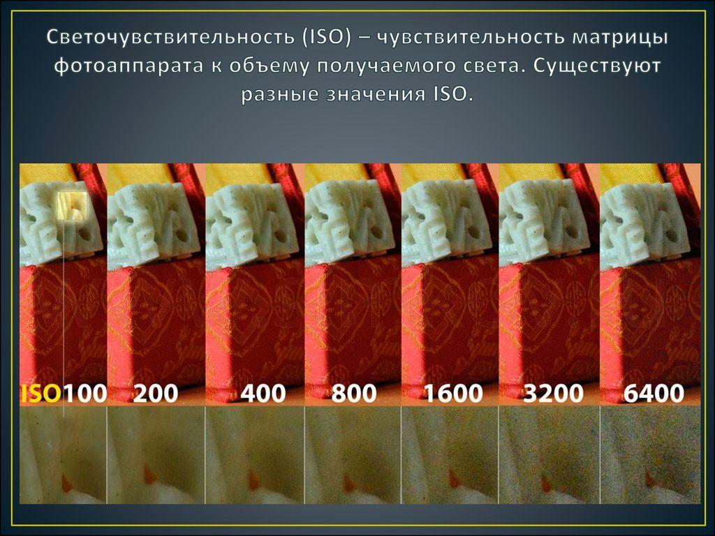 Высокое iso и низкое iso, как правильно использовать