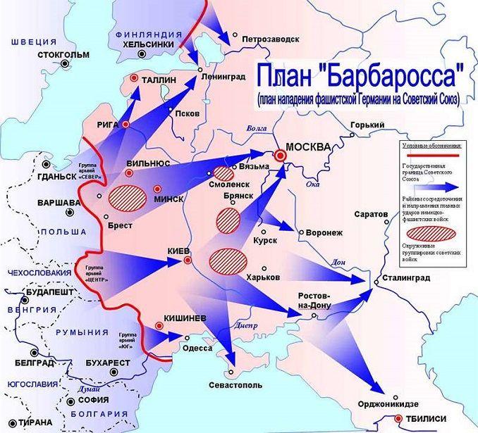План барбаросса - молниеносная война (блицкриг)