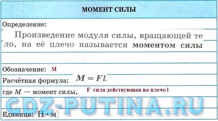 Законы силы, формулы