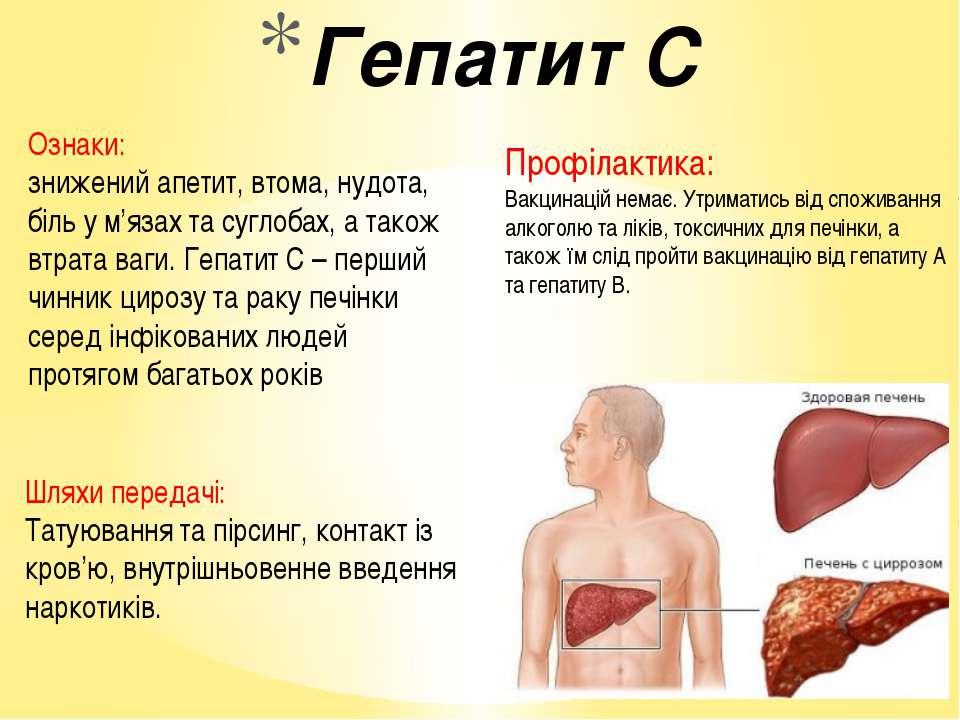 Гепатит с: как передается от человека к человеку, симптомы, лечение