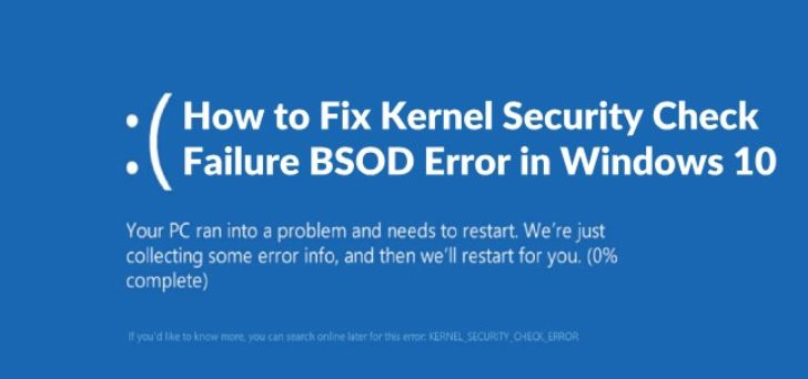 Kernel security check failure during windows 10 version 1903 install/upgrade