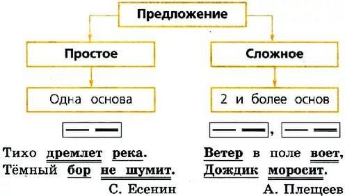 Как составить схему предложения