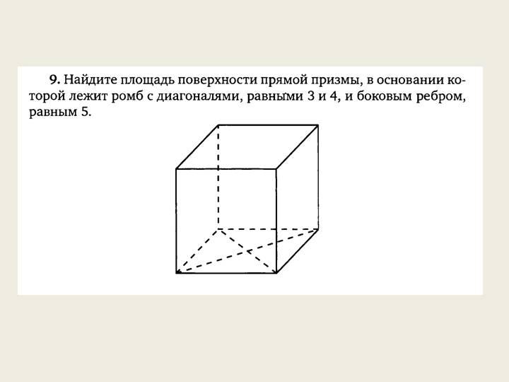 Что такое призма? формулы для длин ее диагоналей, площади поверхности и объема :: syl.ru