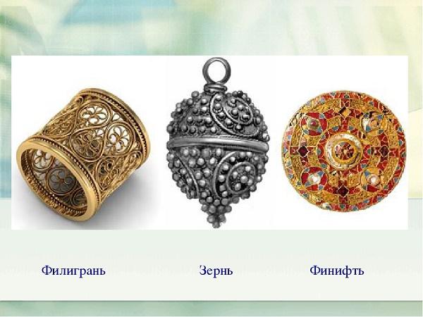 Что означала скань и филигрань в древней руси, их разновидности