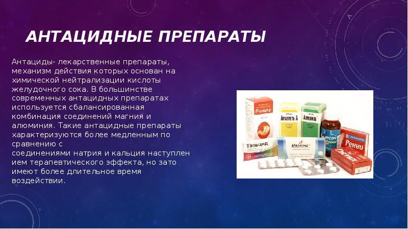 Антацидные препараты: список и правила приема