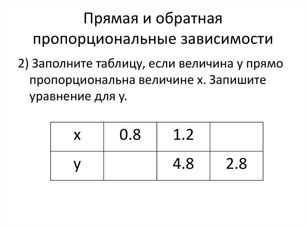 Пропорция
