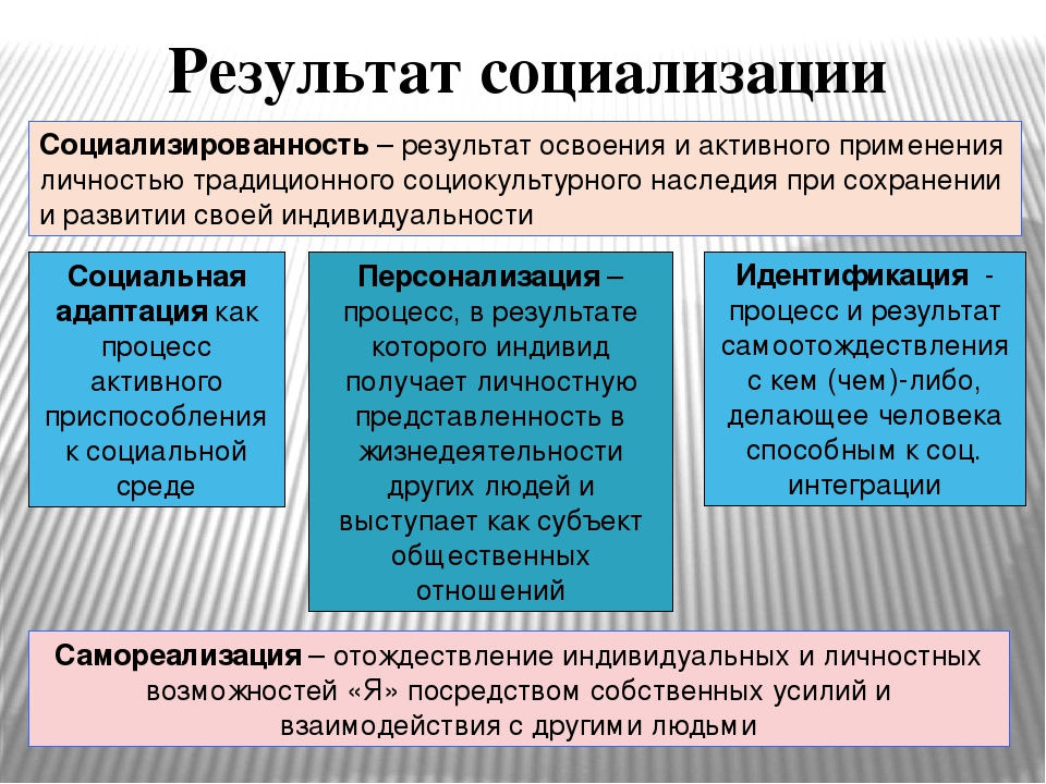 Социализация – это что, основные типы и этапы