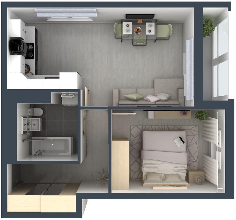 """Квартира-""""евродвушка"""": планировка, особенности дизайна и обустройства интерьера"""