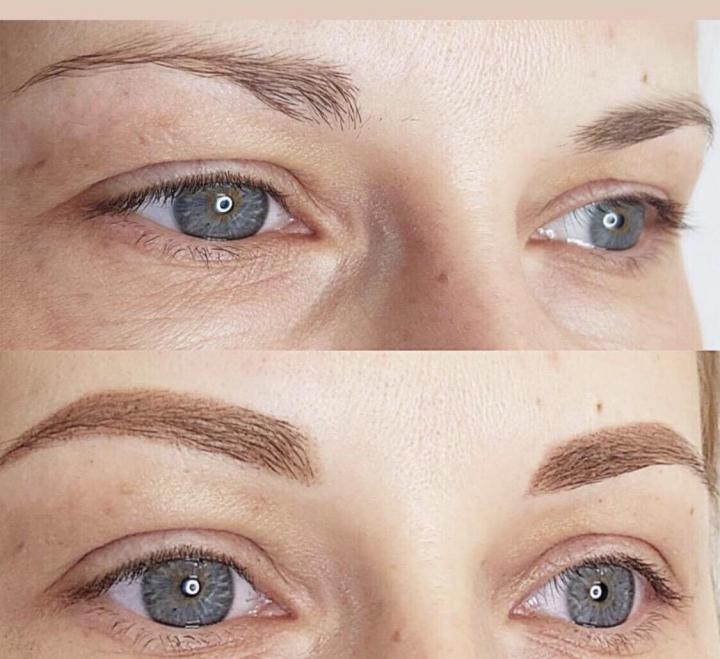 Пудровые брови - фото до и после, отзывы