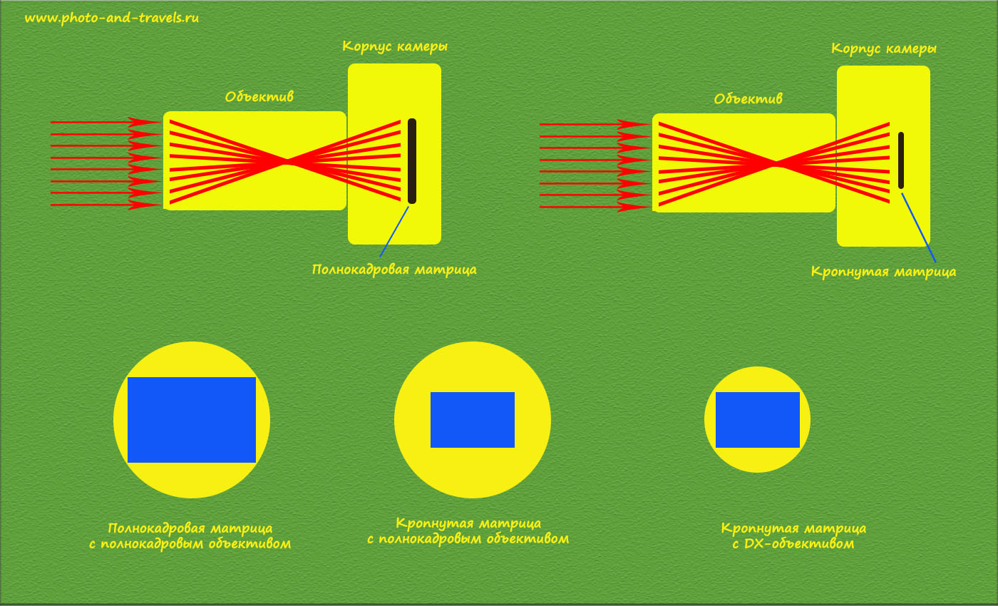 Что такое полный кадр и кроп фактор: в чем их отличия