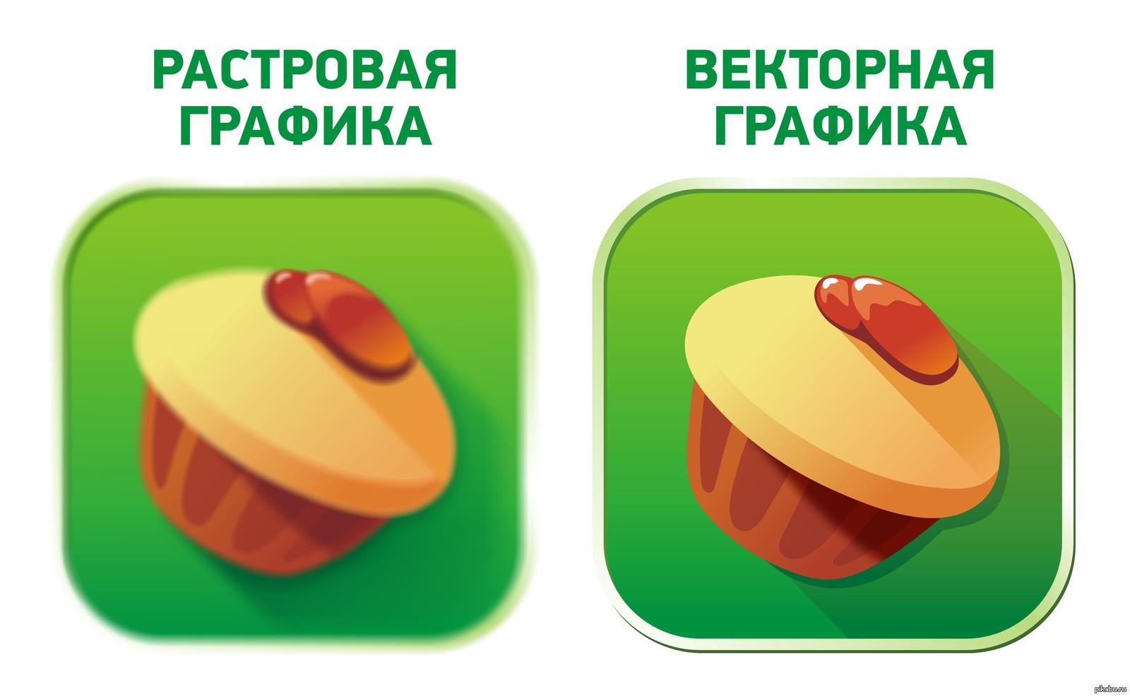 Отличия растровых и векторных изображений