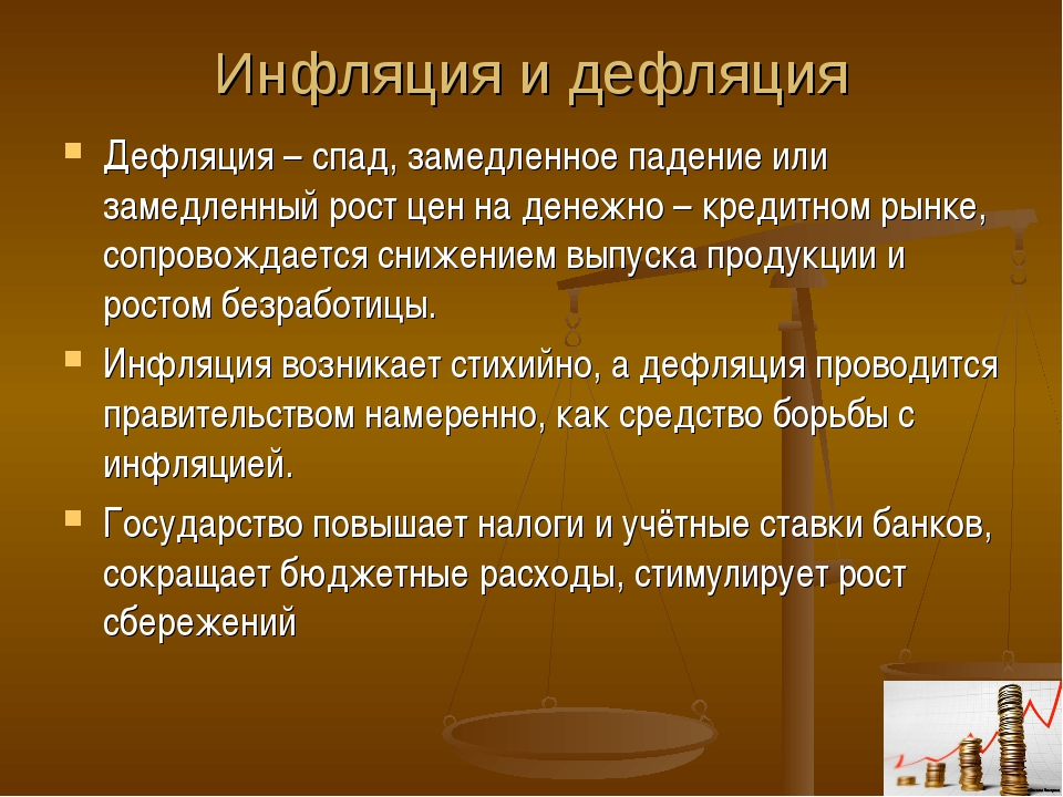 Дефляция рубля что это такое в экономике россии