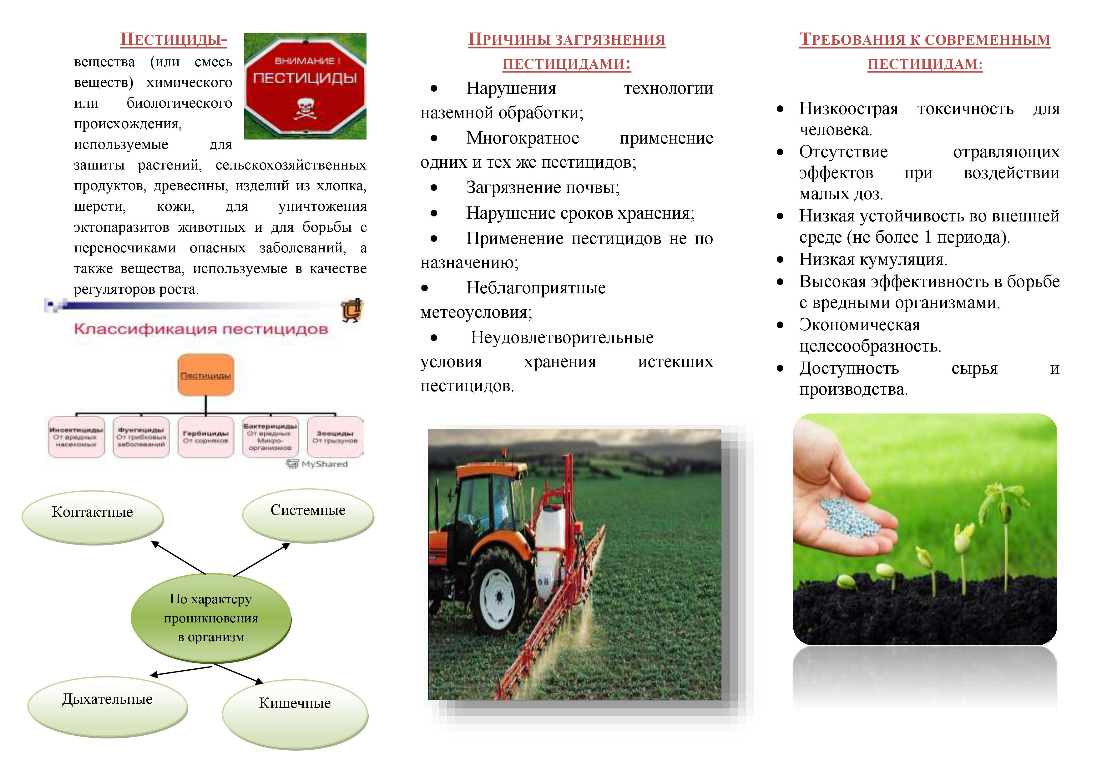 Контактный пестицид | справочник пестициды.ru