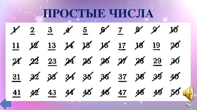 Простые числа и составные числа. таблица простых чисел.
