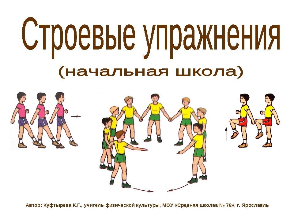 Строевые упражнения - физическая культура