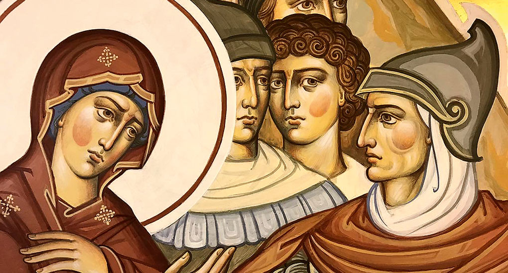 Нимб - так называется кольцо над головой ангела, круг над головой у святых и иисуса христа на иконе в византийском искусстве