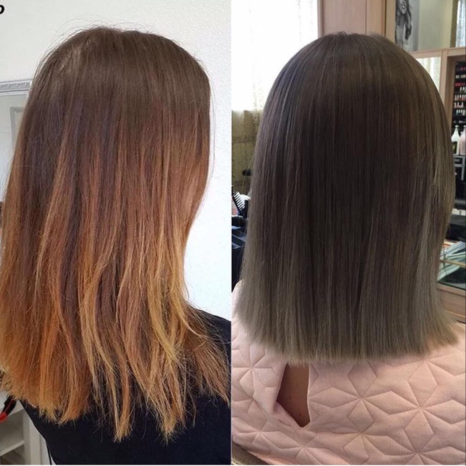 Тонировка волос: фото до и после, выбор средств, отзывы - luv.ru
