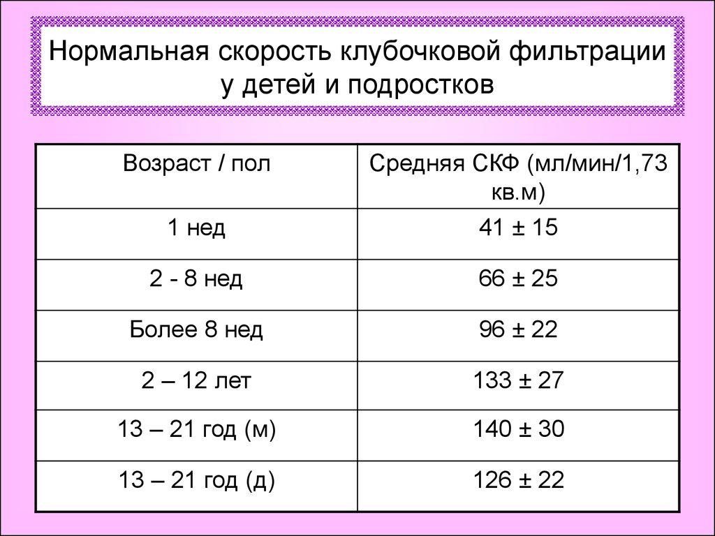 Клубочковая фильтрация норма   здоровье и здоровый образ жизни