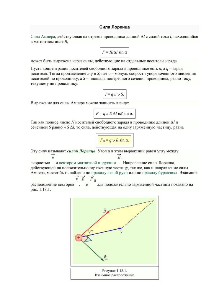 Действие магнитного поля на движущийся заряд. сила лоренца - класс!ная физика
