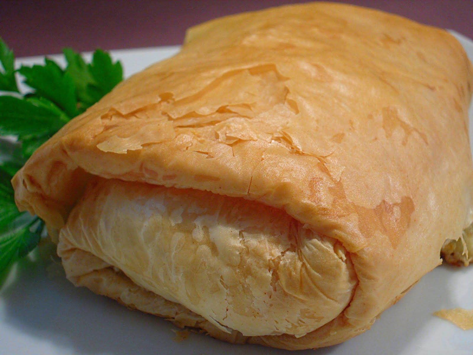 Пирог из теста фило с сыром – кулинарный рецепт