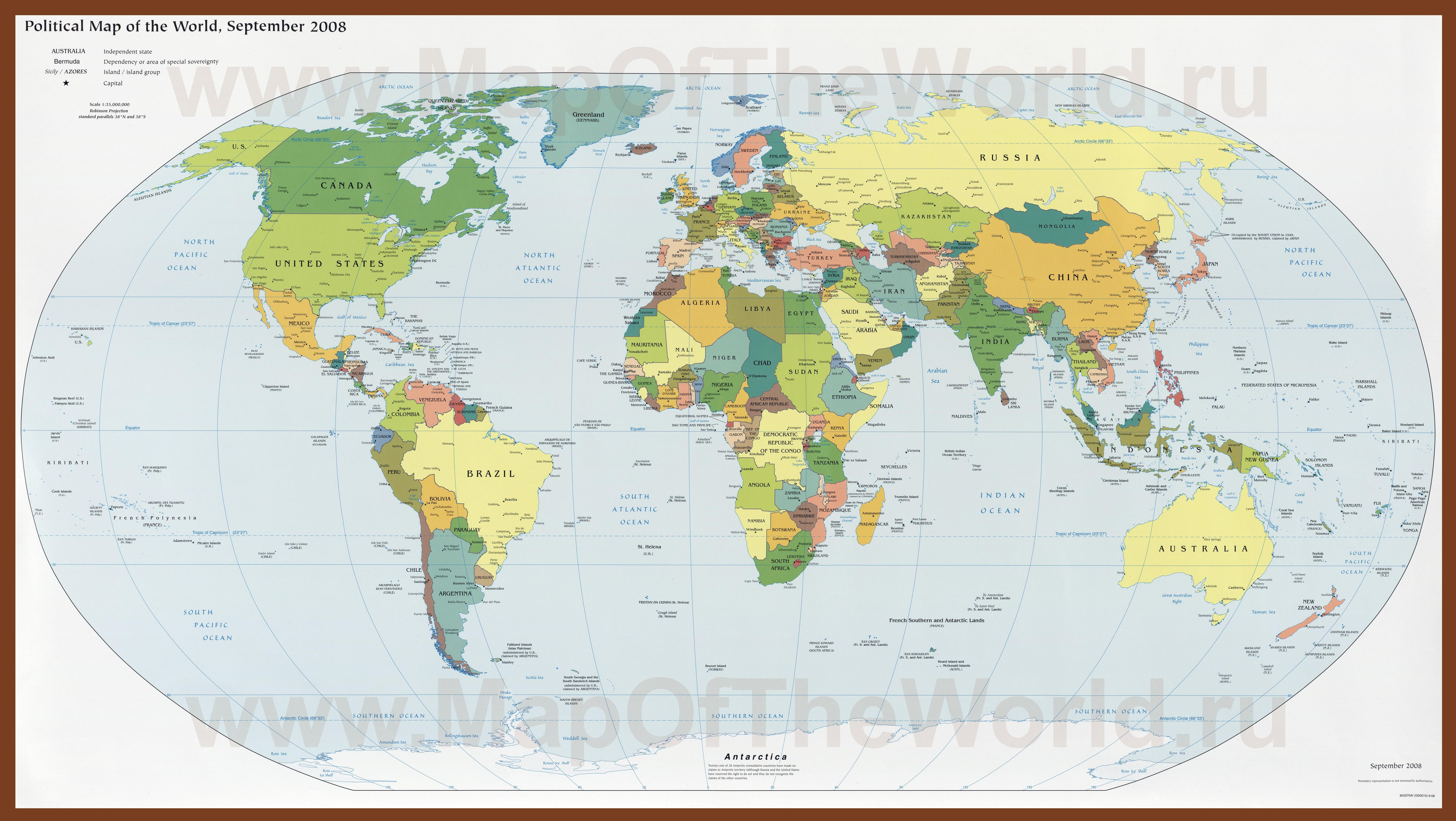 Политическая карта мира — википедия