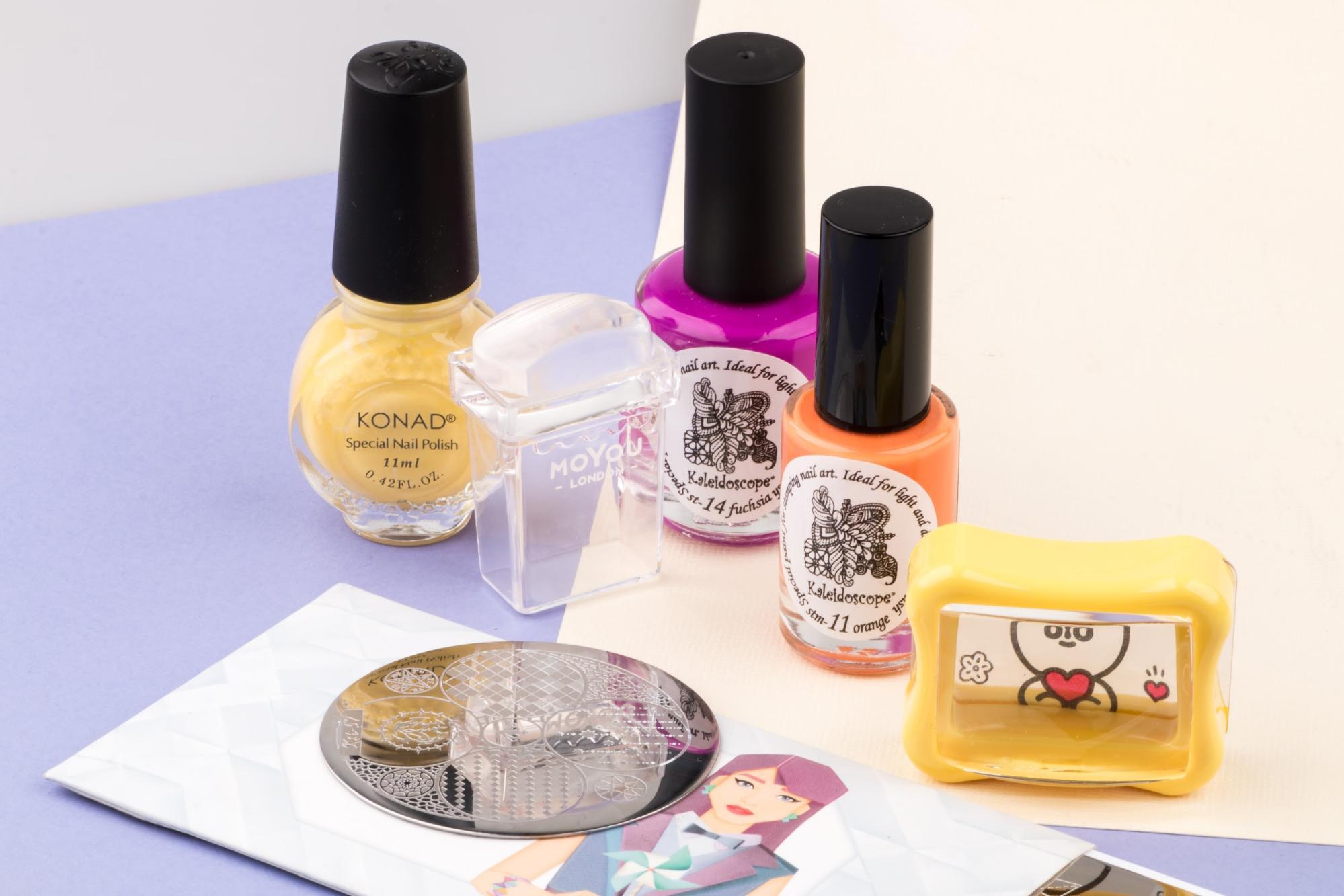 Стемпинг дизайн ногтей
