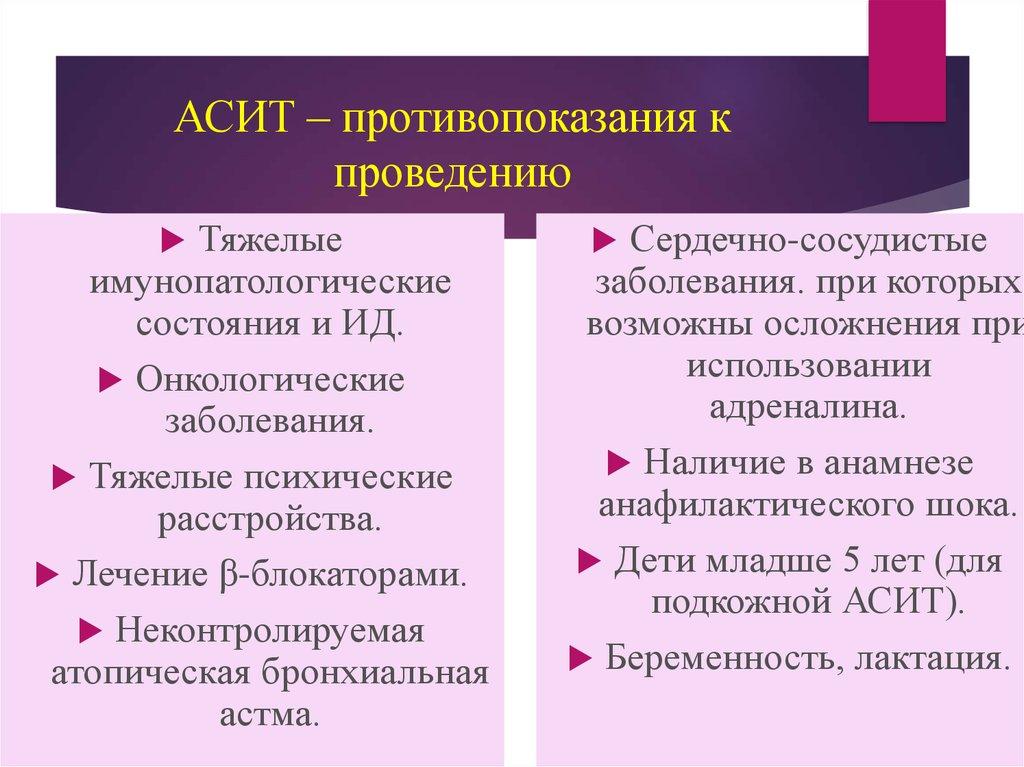 Аллергенспецифичная иммунотерапия (асит): прививка от аллергии - аллергии. астма