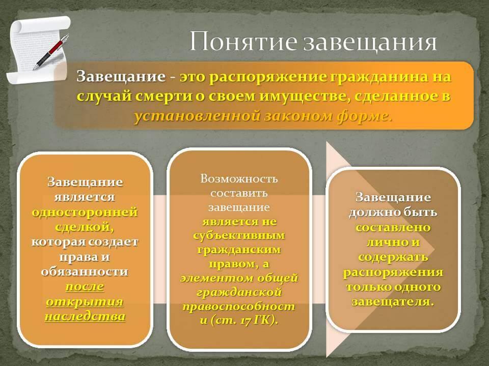 Наследование по завещанию: что это такое, форма завещания, кто может быть наследником и как определяются их права
