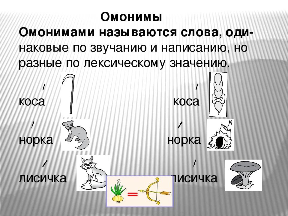 Отличие омонимов от многозначных слов. примеры и таблица
