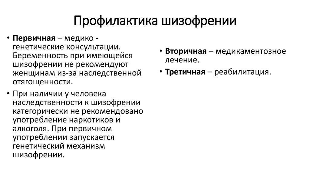 Симптомы разных стадий и фаз шизофрении