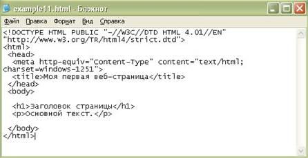 Html теги для текста