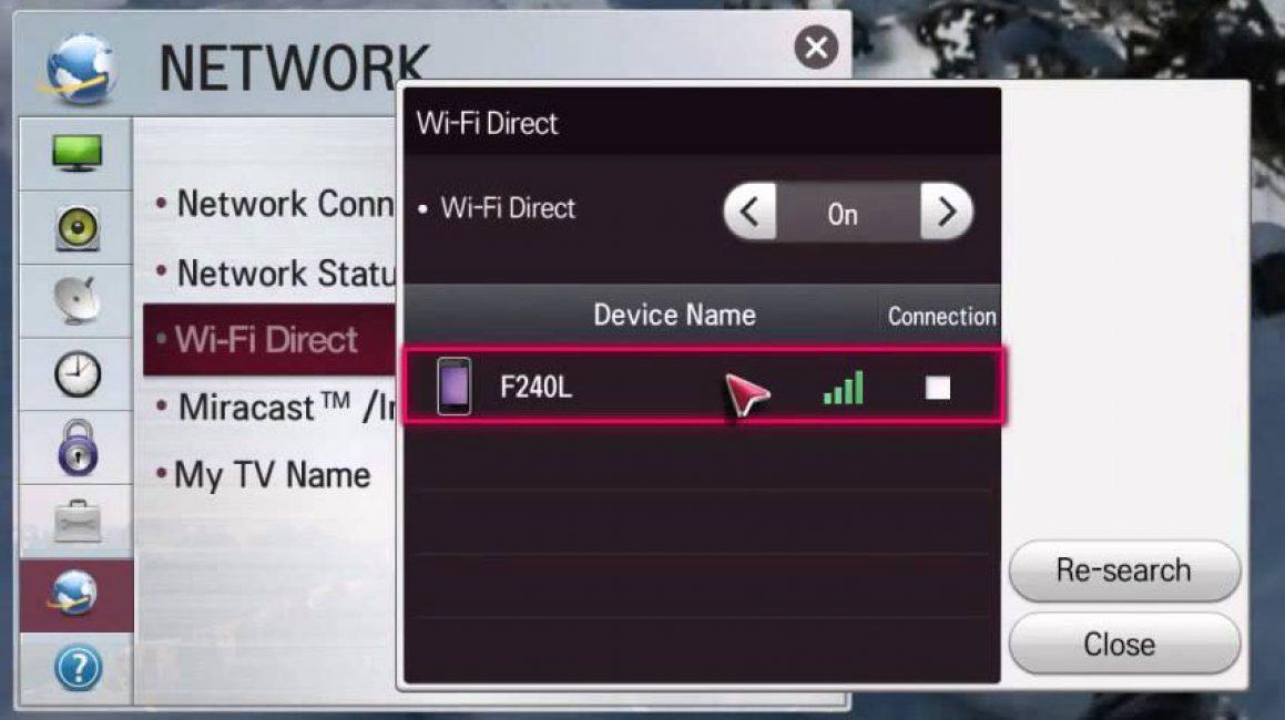 Как подключить телефон к телевизору через wifi direct