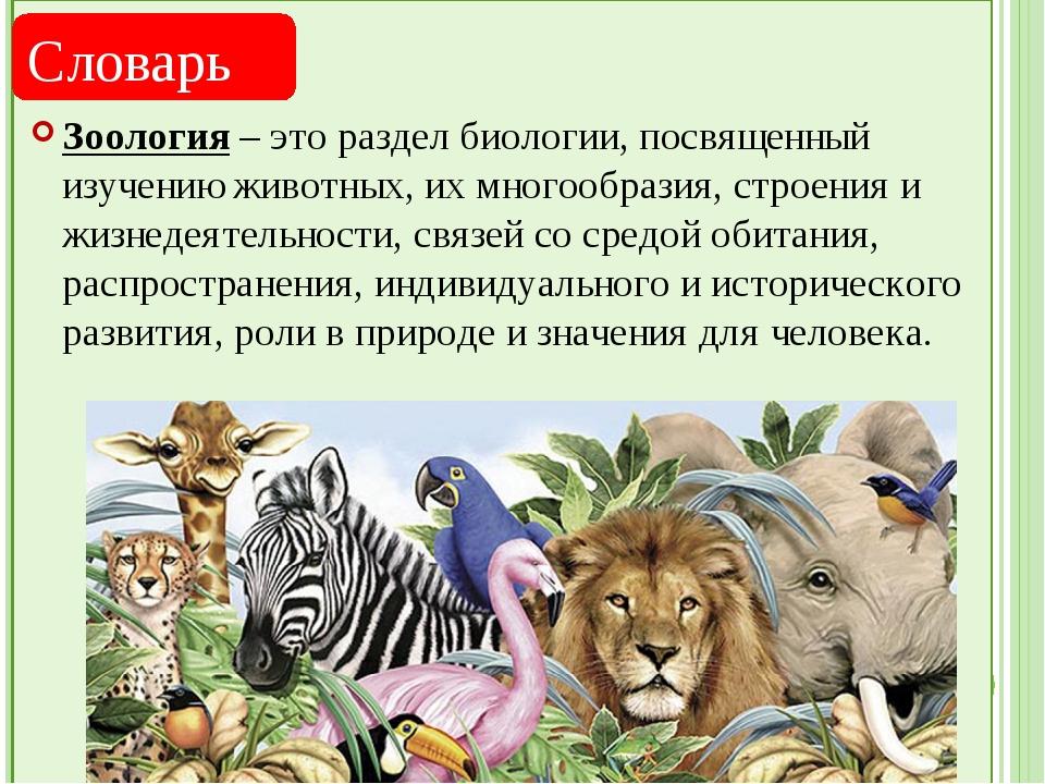 Зоология - это наука о животных. история развития зоологии