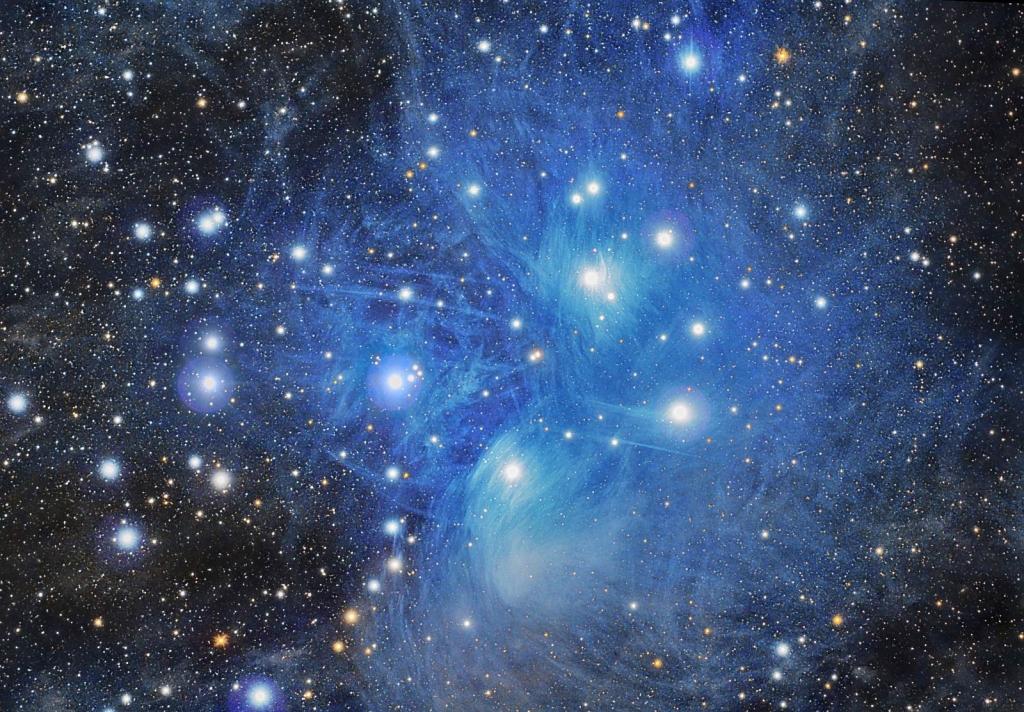 Плеяды — созвездие на звёздном небе   космос и вселенная   багира гуру