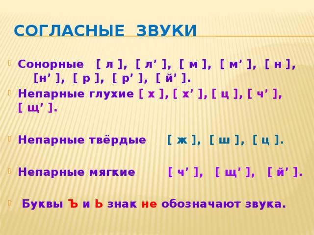 Что значит сонорный звук. сонорные согласные в русском языке - человек и здоровье