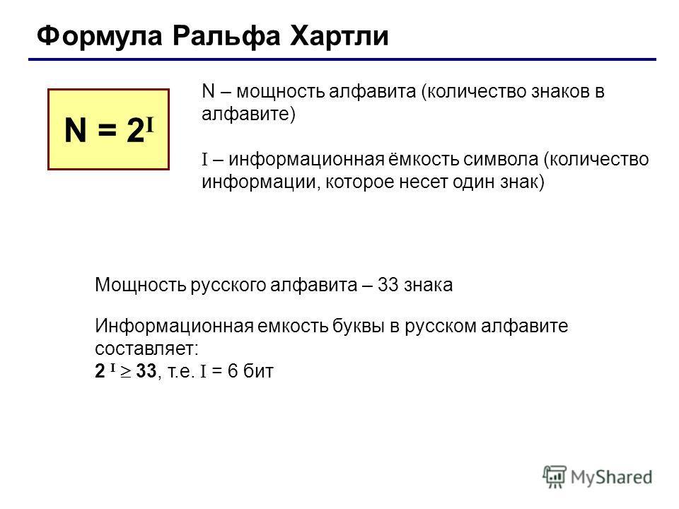 1.1. измерение информации. алфавитный подход