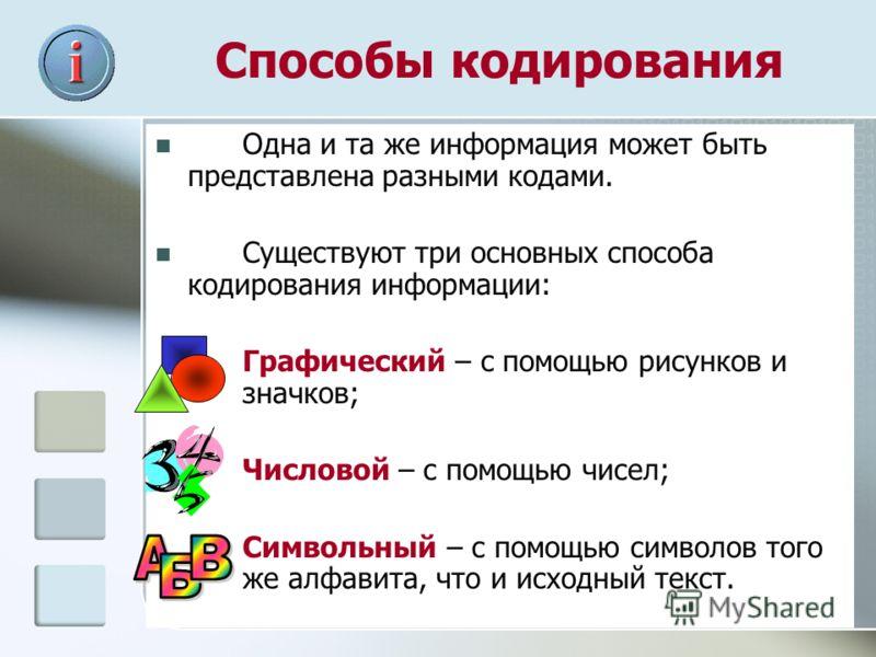 Лекция 2 кодирование информации | контент-платформа pandia.ru