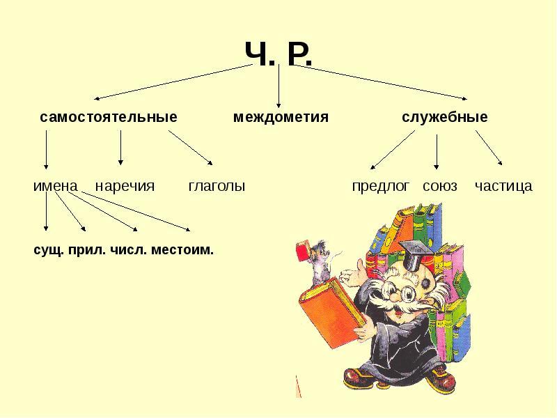 Общая информация по частям речи в русском языке