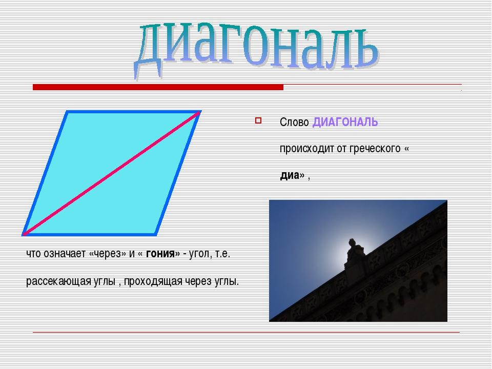 Что такое диагональ