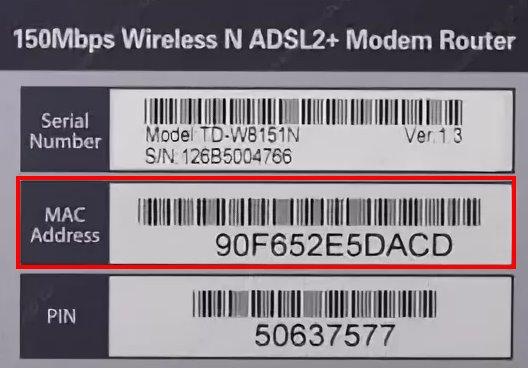 Mac адрес - физический адрес сетевого устройства