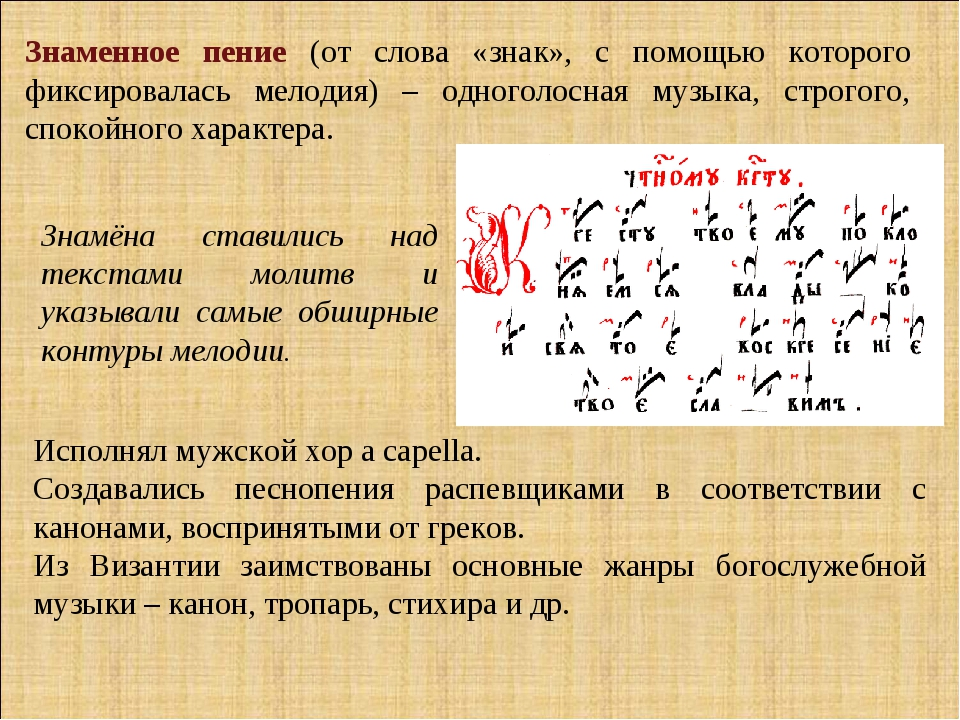 Знаменный распев википедия