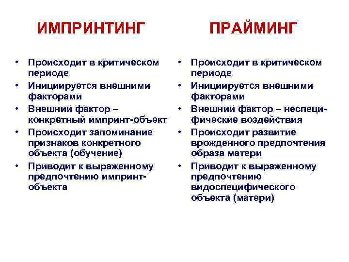 Импринтинг в психологии: что это простыми словами