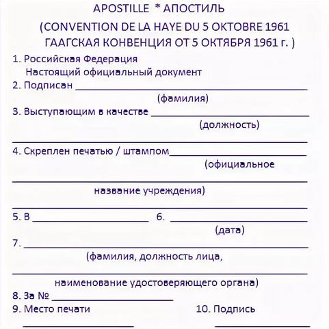 Апостиль — википедия