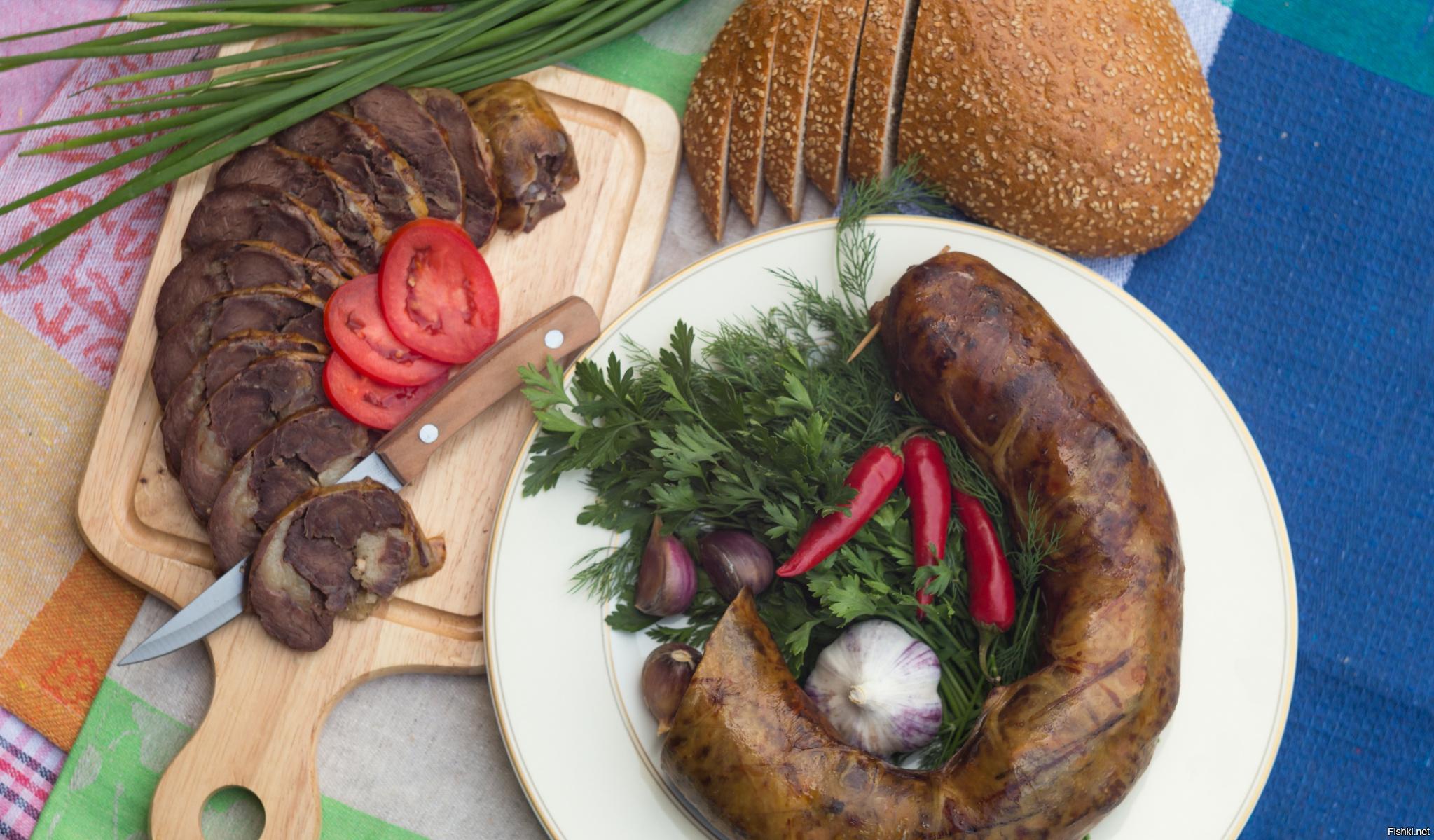 "Бешбармак из конской колбасы ""казы"" – кулинарный рецепт"