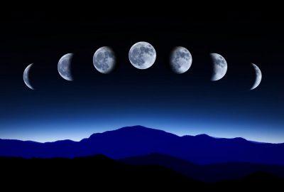 Растущая луна, первая фаза, первая четверть, вторая фаза,описание