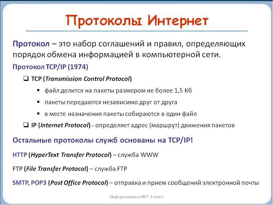 Сетевые протоколы