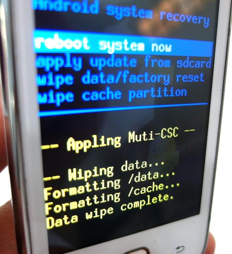 Wipe data factory reset - что это такое