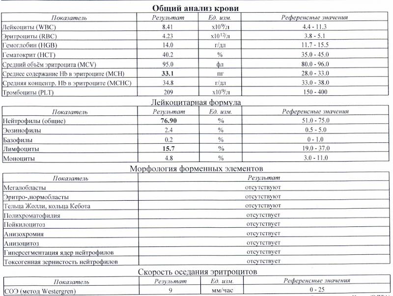 Скорость оседания эритроцитов (соэ) в онкологии: причины повышения, индивидуальная норма