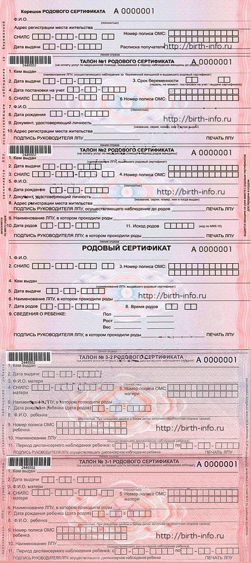 Родовый сертификат на практике